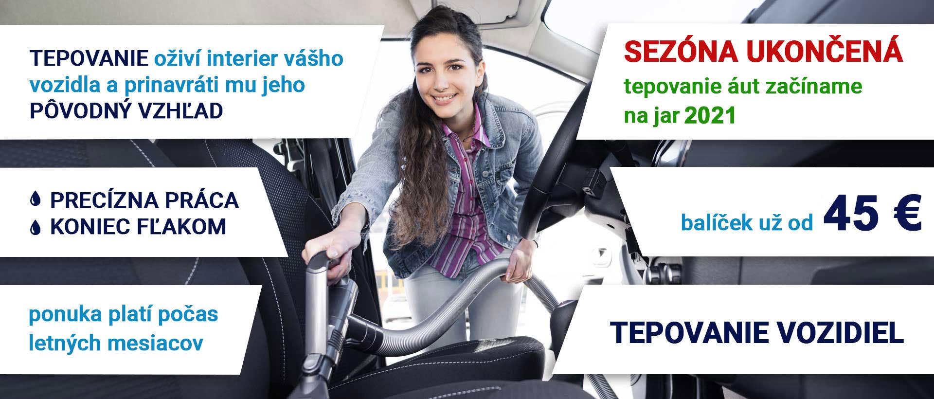 tepovanie áut